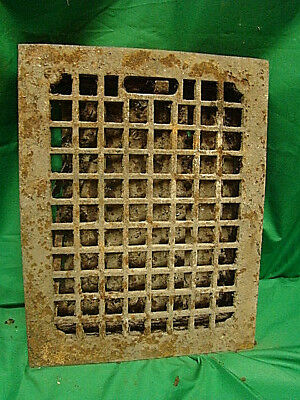 Antique Cast Iron Heating Grate Square Design 14 X 11 Sdf