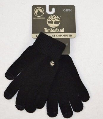 TIMBERLAND Men's Knit Magic Glove w/ Touchscreen Technology, Black, One Size