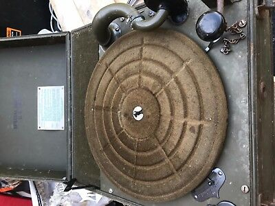 WW II U.S. ARMY Waters Conley Special Services Wind-up Phonograph Record Player