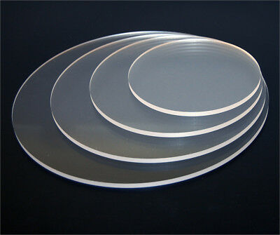 Laser Cut Plastic Circles Acrylic Discs Perspex 3mm, 5mm Clear Transparent
