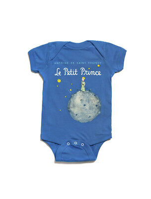 The Little Prince Out Of Print Le Petit Prince Baby Snapsuit - Blue