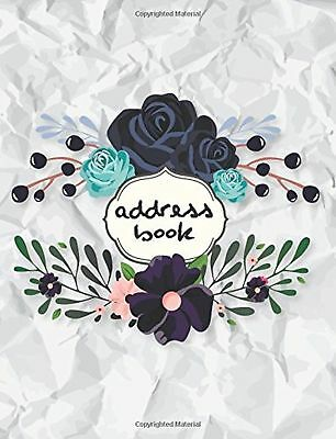 Address Book : Large Print 8.5x11 Alphabetical Wrinkled Paper and Floral For ...