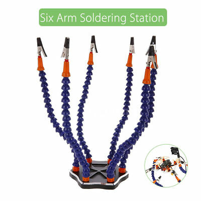 6-Arm Helping Hands Soldering Tool Workstation With 6pcs Clips for RC Racing