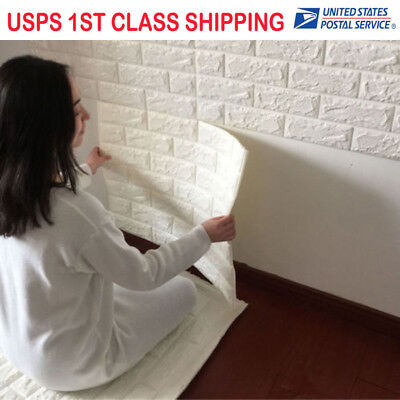3D effect Flexible Stone Brick Bedroom Wall Viny fashion Self-adhesive Wallpaper