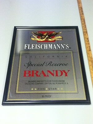 Fleischmann's beer sign brandy Special Reserve liquor bar pub old California KO2