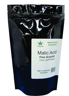 Malic Acid Food Grade 4 to 16 oz. Choose Your Size