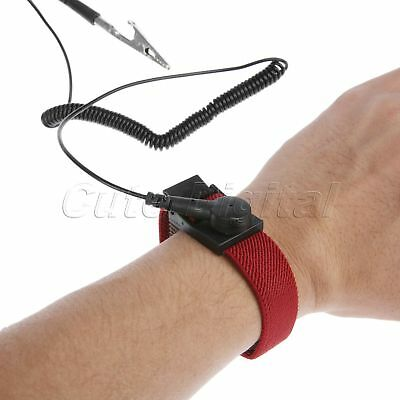 New Anti Static Esd Strap Antistatic Grounding Bracelet Wrist Band Prevent Shock