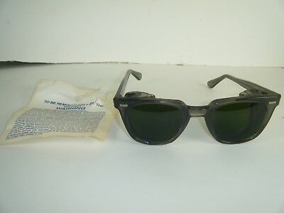 Vintage Wilson Safety Glasses Green Lens Steampunk Motorcycle  NOS
