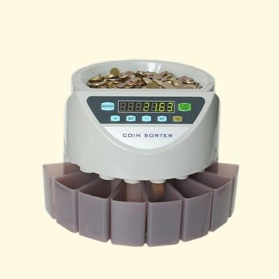 Electronic Australian Automatic Coin Counter Money Cash Sorter fast and accurate