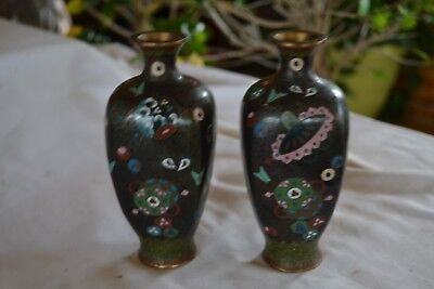 "Pair of 6"" Cloisonne Vases"