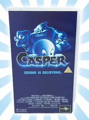Casper The Friendly Ghost Seeing Is Believing by Universal VHS PAL Video PG