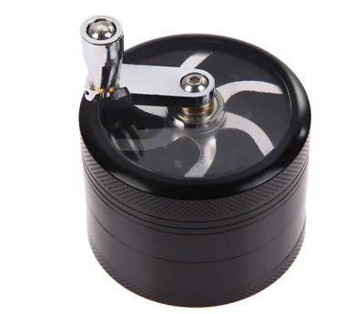 Herb Tobacco Grinder 4 Layers HerbalSmoke Spice Crusher Muller with Mill Handle