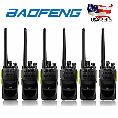 Limited Sale! 6Pcs Baofeng GT-1 UHF 400-470Mhz 16CH Two way Radio > BF-888s USA