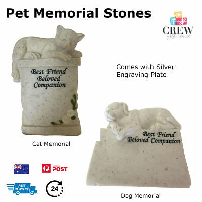 Pet Memorial Stone Statue Dog Cat Beloved Honour Loved One