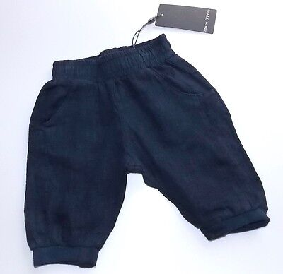Marc O´Polo Newborn Boys  Hose gr. 56 mood indigo blue 100% Leinen