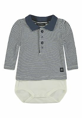 Marc O´Polo Newborn Boys Body 2 in 1 Polo Body gr. 56 blue indigo gestreift