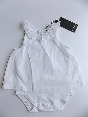 Marc O´Polo Newborn Body ohne Arm 2 in 1 Tunika weiß gr. 56