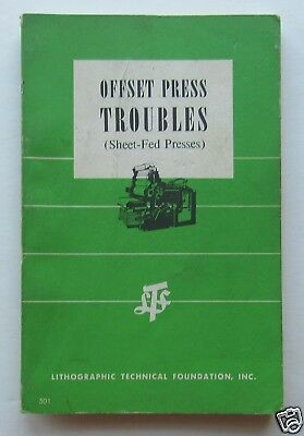 Offset Press Troubles (Sheet Fed Presses) 1962