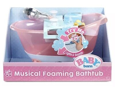 New Baby Born Musical Foaming Baby Doll Bathtub Playset CHRISTMAS GIFT! HOT TOY!