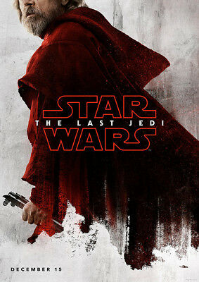Brand New Movie Poster Print: Star Wars The Last Jedi A3 / A4