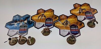 Heroscape Thora's Vengeance Wave Expansion Gladiators and Nakita Agents w/ cards