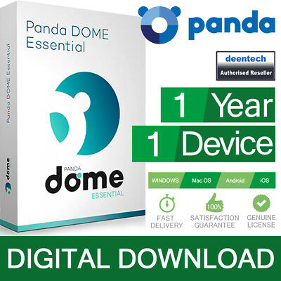 Panda Dome Essential 2019 (1PC/1Year) Internet Wi-Fi Protection Genuine License