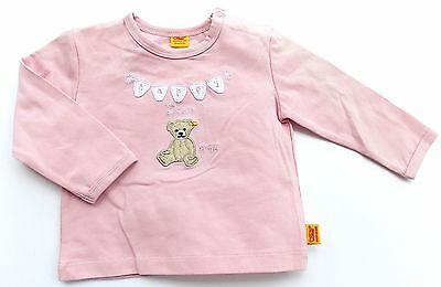 Steiff Collection Girls Baby Shirt 1/1 Arm gr. 56 / 1-2 Monate pink nectar