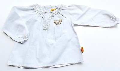 Steiff Collection Mädchen Tunika / Bluse 1/1 Arm gr. 62 / 3 Monate bright white