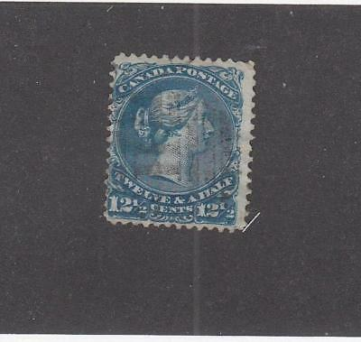 CANADA (LOT MK384)  #28  FVF-LIGHT USED  121/2cts  LARGE QUEEN CAT VALUE $80