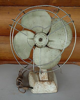 Vintage Knapp Monarch Metal Oscillating Fan Cat. #2-516A Jack Frost Works