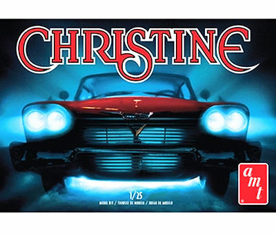 CHRISTINE 1958 Plymouth (molded in WHITE) AMT 1:25 scale Kit AMT840