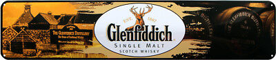 GLENFIDDICH SCOTCH WHISKY WHISKEY 46x10 BLECHSCHILD STRASSENSCHILD STR187