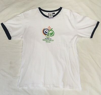 FIFA World Cup Germany 2006 Official Mens Womens Ringer T Shirt Large Soccer