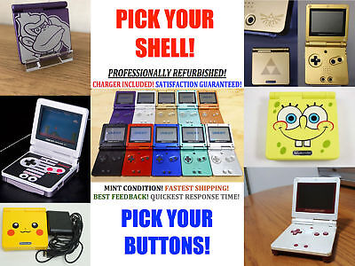 Nintendo Game Boy Advance GBA SP Advance System AGS 001 Pick Shell & Buttons!