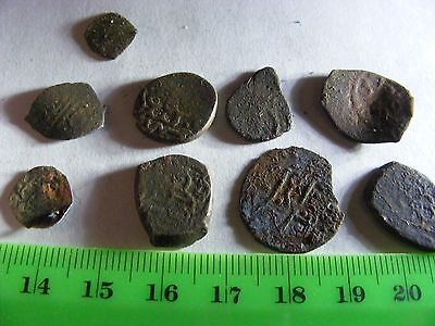 Lot of 9 ANTIQUE Ottoman/Muslim Copper Coins,mixed good condition used.(B).