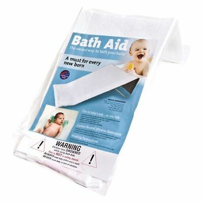 Babyrest Anstel Towelling Toweling Bath Support in White