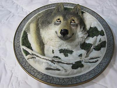 """""""The Gray Rock Collection""""  Amy & Addy 3DGray Wolf Rock Plate 7 1/2"""" Gorgeous!"""