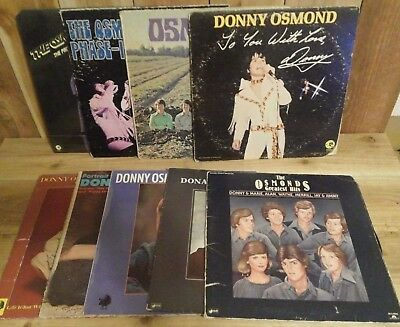 Lot of 9 Donny Osmond / The Osmonds Records Albums LP marie