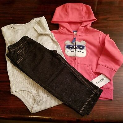 bb1465ff5 CARTERS Baby Boy Hoodie 3pc Set Outfit