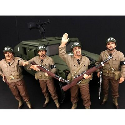 1/18 scale - Military Police - Set of 4 -  AMERICAN DIORAMA - figure/figurine