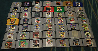 Huge lot of Nintendo 64 Games for sale. Pick your title. n64 Game lot. Tested!!