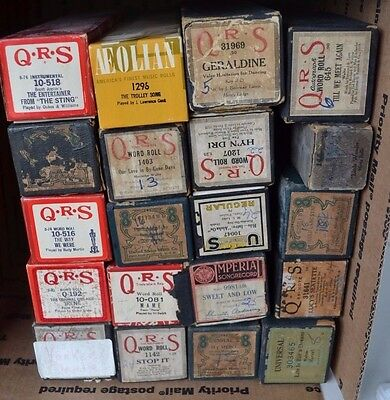Vintage Player Piano Roll QRS Lot of 20 Lot Waltz