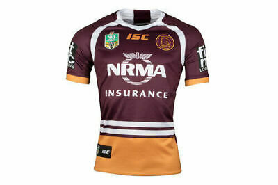 Brisbane Broncos NRL 2018 Home ISC Jersey Mens, Ladies, Kids & Toddler In Stock!