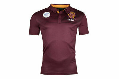 Brisbane Broncos NRL 2018 Players Maroon Performance Polo Sizes S-5XL! In Stock!