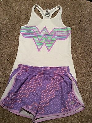 Girls Sports/ Summer Outfit, Size M Top & L Shorts, Ex Cond