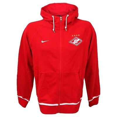 Nike Spartak Moscow Men'S Aw77 Authentic Full Zip Hoodie Hooded Top New S