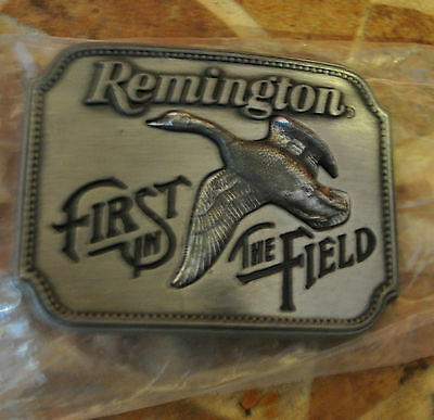 Vintage 1980 **remington First In The Field** Canada Goose Gun Buckle New!!
