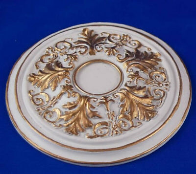 Heidi Ott Large Ceiling Rose Gilt Painted 70mm, Dolls House Miniature