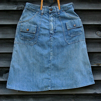 Vintage 1977 Maverick Denim Blue Skirt Junior Size 9/10 U.S.A.