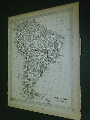 100% Original South America Map By Findlay C1840 Vgc Low Postage
